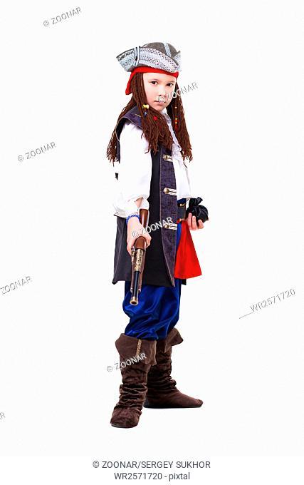 Nice boy dressed as pirate