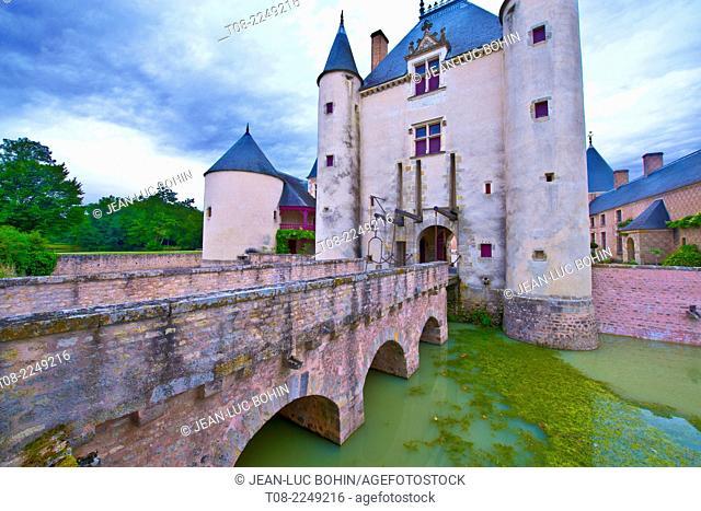 france, loiret, chamerolles : 16 th century castle