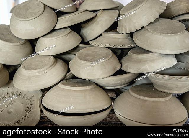 Workshop of Black Ceramics of Marginea, famous for its ancient burning technique in Marginea village, located in Suceava County, Romania