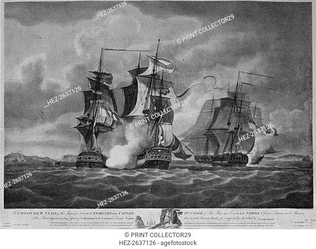 'Capture of the 'Resistance' and the 'Constance' c1798. Artist: Nicholas Pocock