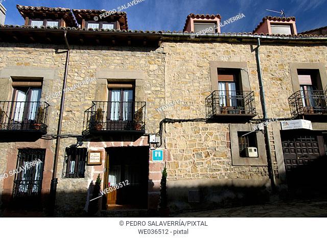 Façade. Sigüenza. Guadalajara. Castilla-La Mancha. Spain