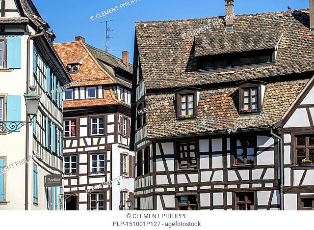 Half-timbered houses in the Petite France quarter of the city Strasbourg, Alsace, France