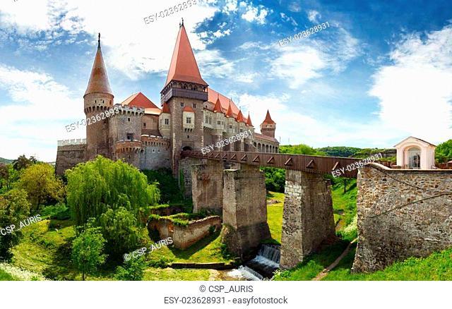 Corvin Castle in Hunedoara, Romania