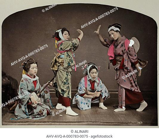 Portrait of Geishas, shot 1885 ca. by School of Yokohama