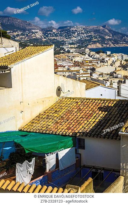 A vertical vision of Altea old town, Alicante province, Spain