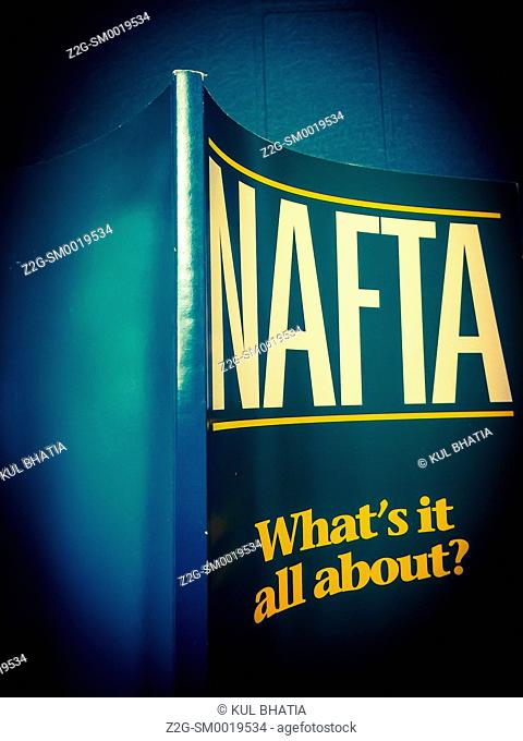NAFTA, the text of the North American Free Trade Agreement, called a 'disaster' by Donald Trump during the American election campaign, 2016