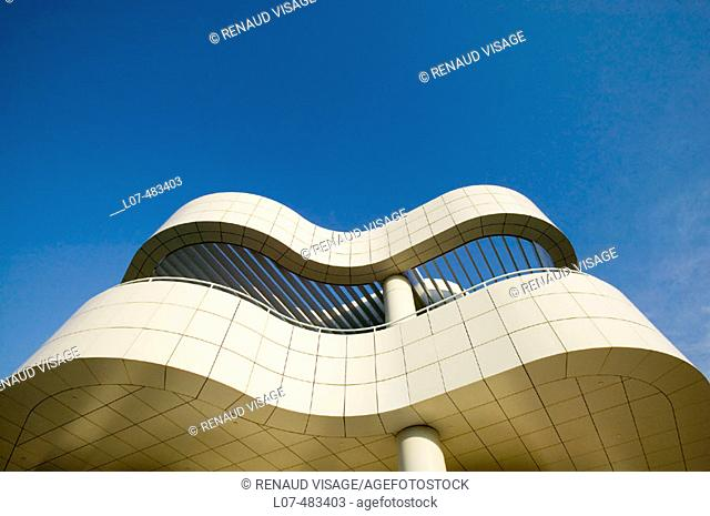 Modern architecture of the Getty Center. Los Angeles. California. United States