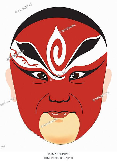 Traditional Chinese Opera Mask for Emperor Taizu, also know as Zhao Kuangyin