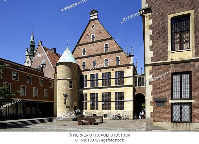 Muenster (Westfalen), D-Muenster, Westphalia, Muensterland, North Rhine-Westphalia, NRW, Historical City Hall of Muenster at the Prinzipal Market Place