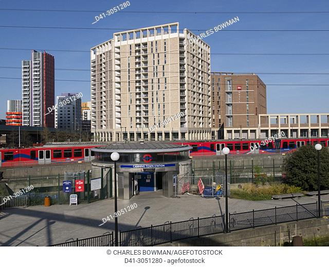 Europe, UK, England, London, Canning Town DLR Bow Creek