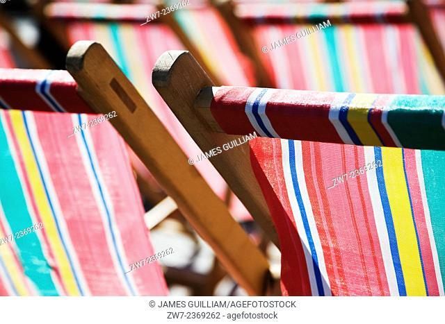 Seaside deck chairs