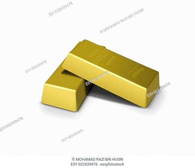 Gold bars financial concept
