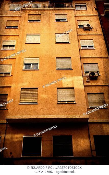 Facade of a building in Valencia, Spain