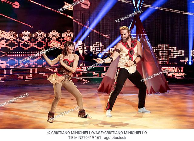 Lasse Matberg during the performance at the tv show Ballando con le stelle (Dancing with the stars) Rome, ITALY-27-04-2019