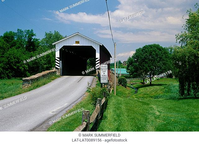 Near Churchtown. Covered bridge. ARCHIVED, WITHDRAWN