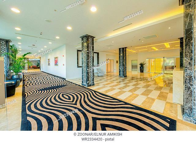 Hotel lobby with modern design