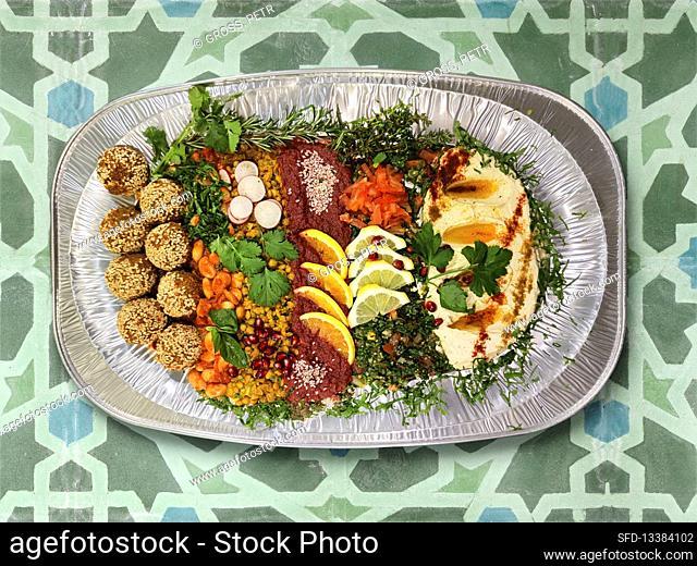 Mixed starter platter from Lebanon