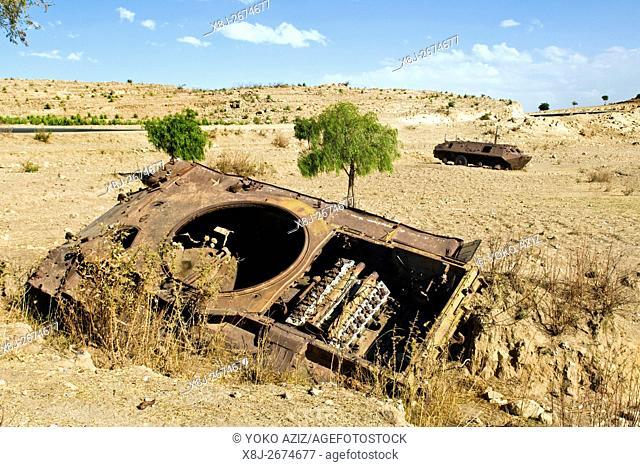 Ethiopian tank, Surrounding of Asmara, Eritrea