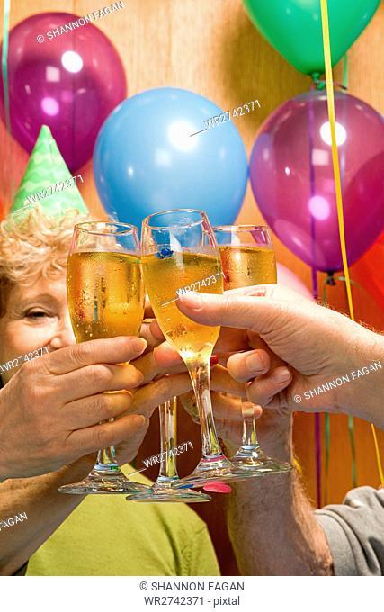 Senior adults at a party