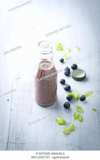 A blueberry and sorrel smoothie