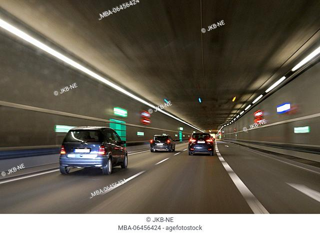 Europe, Germany, Bavaria, Munich, Mittlerer Ring, road tunnel, traffic