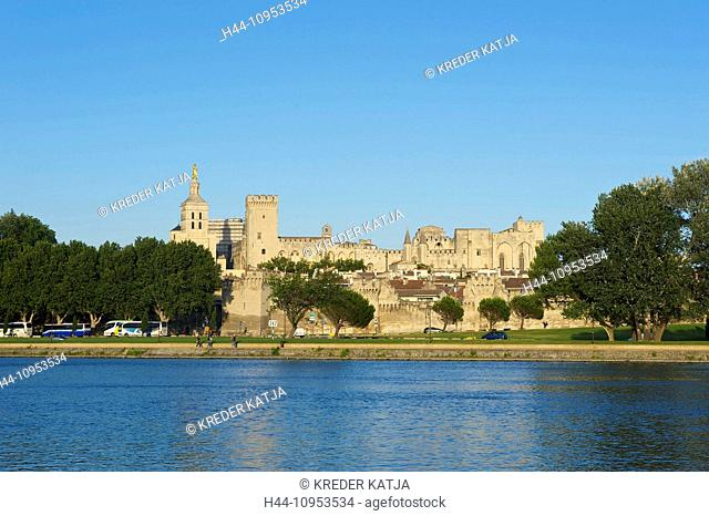 France, Europe, Provence, South of France, Avignon, view, town, city, Rhone, place of interest, nature, outside, day, nobody