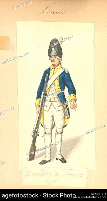 France, 1770-1772. Vinkhuijzen, Hendrik Jacobus (Collector). The Vinkhuijzen collection of military uniforms France France, 1770-1772