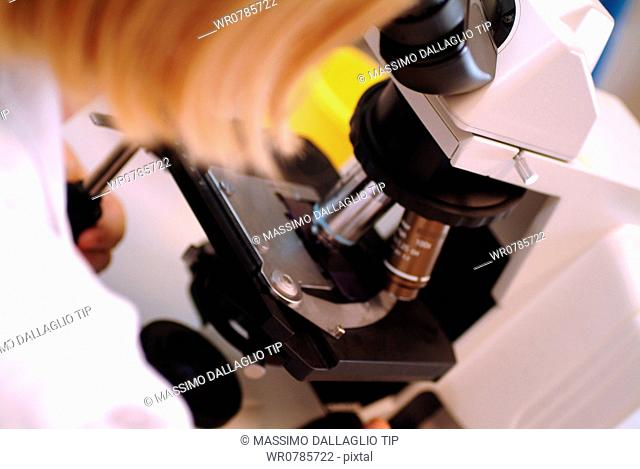 Close Up Of Microscope