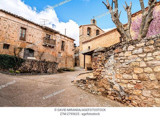 San Juan Bautista Church, Palazuelos, Guadalajara province, Castile La Mancha, Spain. Historical Heritage Site
