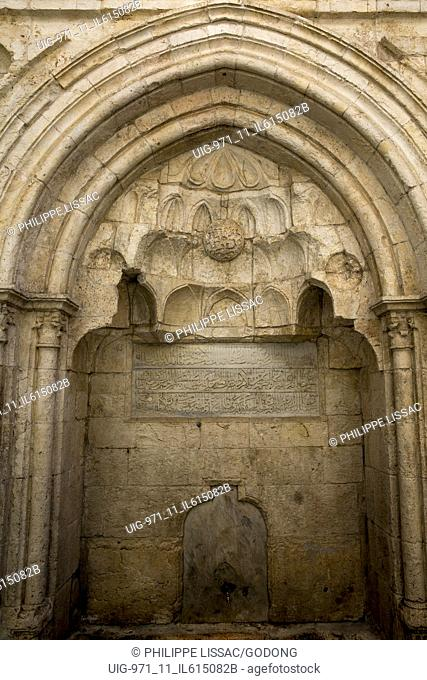 Sabil public water fountain built by order of Soliman the Magnificent in Camera in Jerusalem Old City, Israel