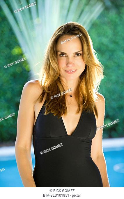 Glamorous Hispanic woman