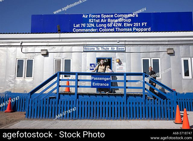 Thule air base, Greenland. Air Force Space Command's, 821st Air Base Group