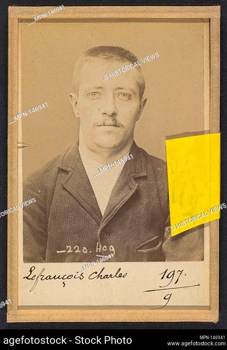 Lefrançois. Charles, Albert. 27 ans, né le 10/11/67 à Paris XXe. Horloger. Anarchiste. 2/7/94. Artist: Alphonse Bertillon (French