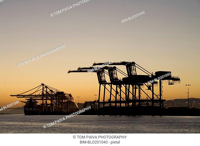 Shipyard in the port of Oakland