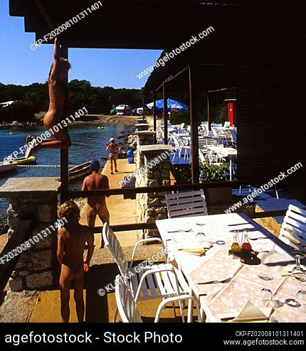 Croatia, Cres, Punta Kriza 08.2004. Restaurant in naturist resort near Punta Kriza village. Photo CTK/Grzegorz Klatka