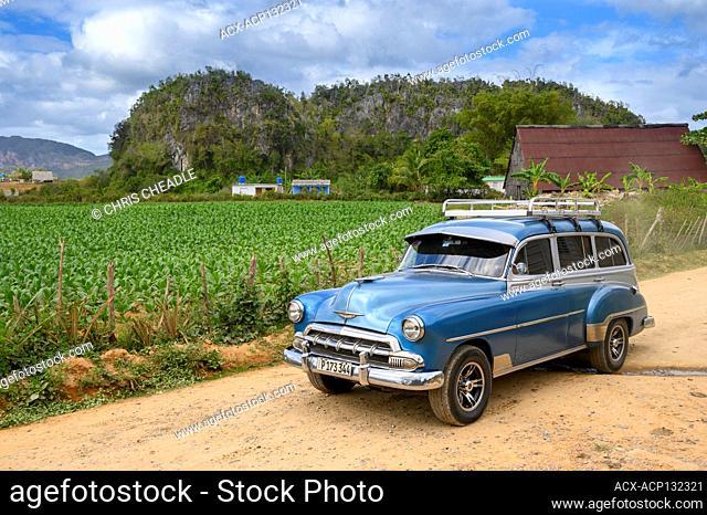 Vintage chevrolet wagon, Vinales, Pinar del Rio Province, Cuba