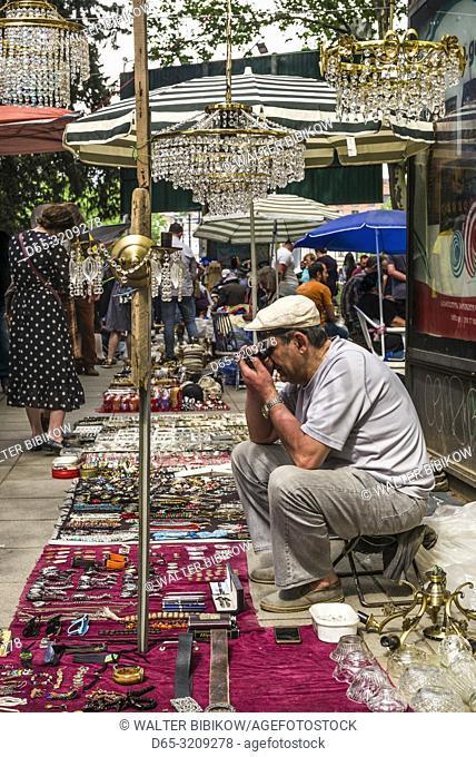 Georgia, Tbilisi, Dry Bridge Market, souvenir market, NR