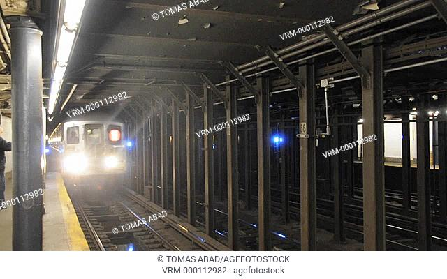 D Line Subway, Manhattan, New York City, USA