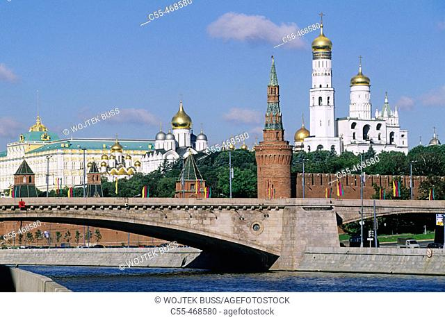 The Kremlin and Moscow River, Moscow. Russia