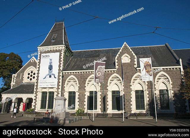 Opened in 1870, the Canterbury Museum, housed within an historic stone building in Christchurch, New Zealand, has withstood recent severe earthquakes