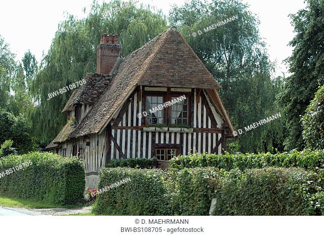 old half-timbered house, France, Normandy