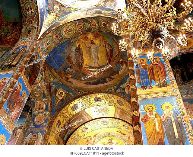 Ceiling, Church on Spilled Blood, St Petersburg, Russia
