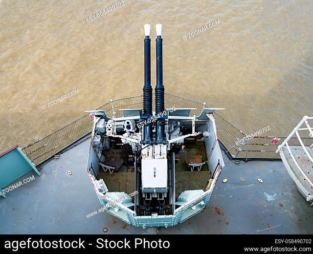 Bophors Guns on HMS Belfast
