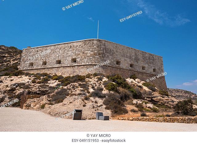 Christmas fort in Cartagena, Murcia, Spain