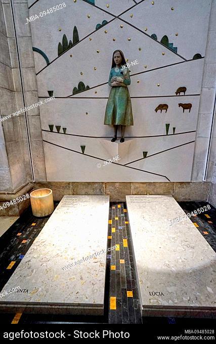 Europe, Portugal, Centro region, Fatima, Catholic sanctuary, grave of the shepherd children jacinta and Lucia