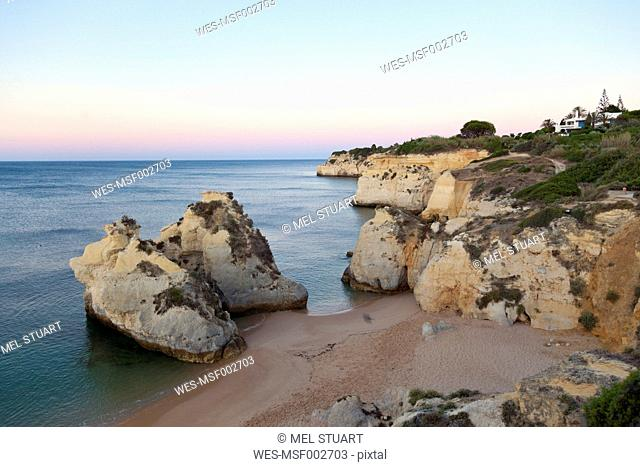 Portugal, View of Cova Redonda beach