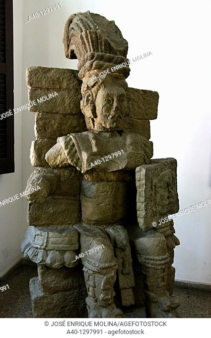 Honduras. San Pedro Sula. Museum of Anthropology and History. Maya sculpture
