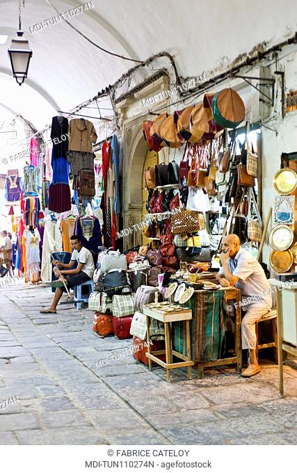 Tunisia - Tunis - Shop in the souks of the medina