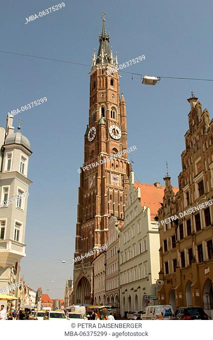Church of St. Martin in the city centre of Landshut, Bavaria, Germany, Europe