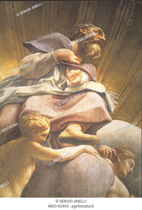 Assumption of the Virgin, by Antonio Allegri known as Correggio, 1526 - 1530 about, 16th Century, fresco, cm 1093 x 1195